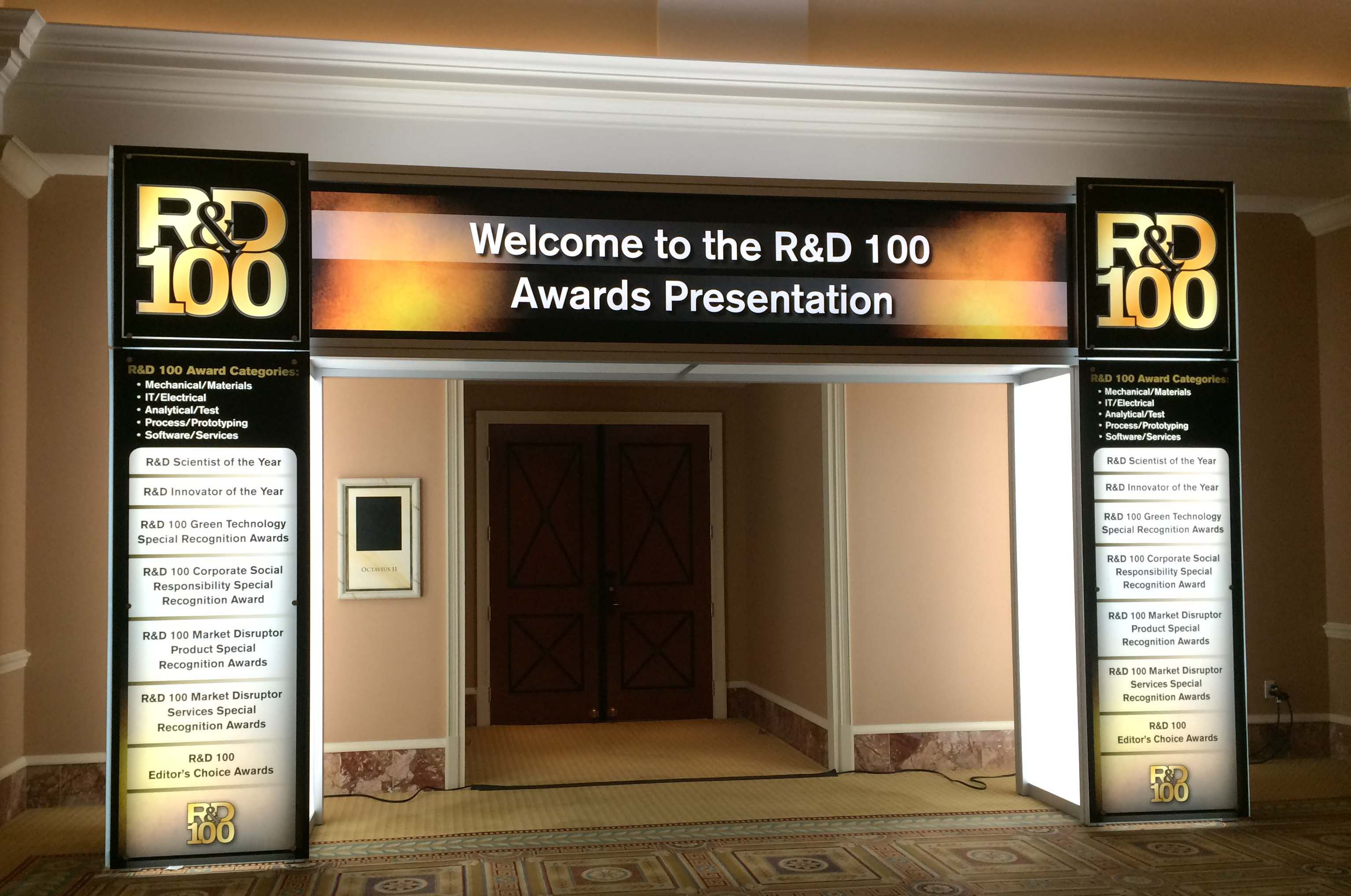 53rd R&D 100 Awards Entrance