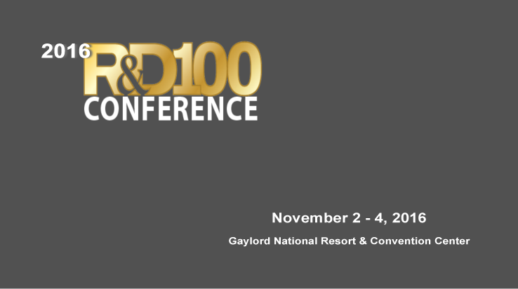 54th R&D 100 Awards & Technology Conference LinkedIn