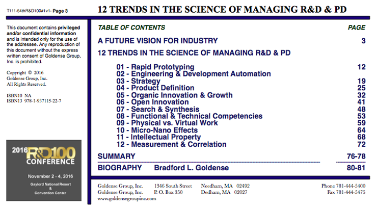12 Trends In The Science of Managing R&D and Product Development