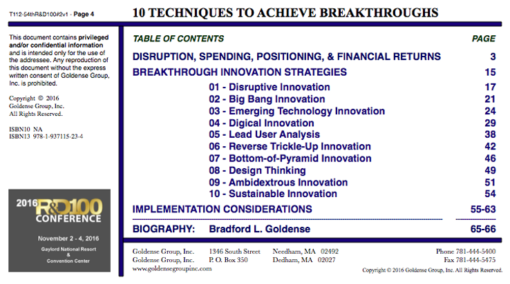 10 Techniques To Achieve Breakthrough Innovation